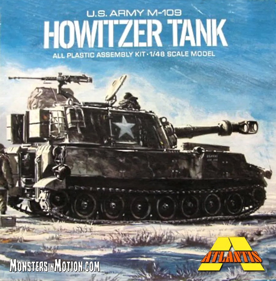 U.S. Army M-109 Howitzer Tank Aurora Reissue 1/48 Scale Model Kit by Atlantis