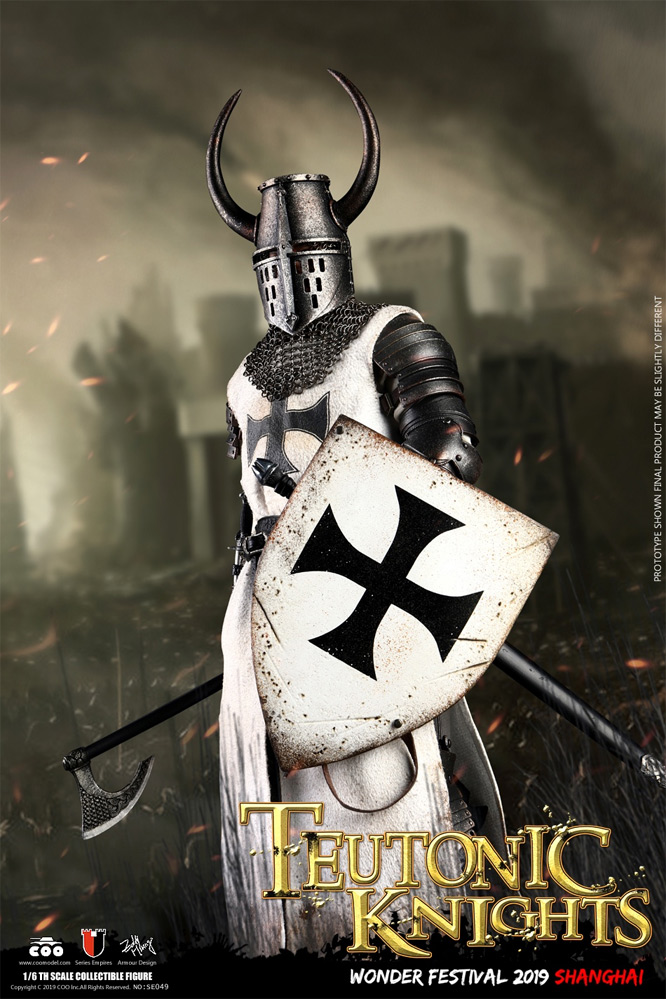 Crusader Teutonic Knight 1/6 Scale Die-Cast Alloy Figure by Coo Model