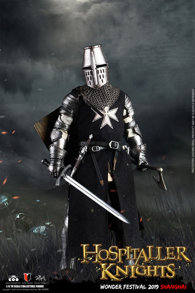 Crusader Hospitaller Knight 1/6 Scale Die-Cast Alloy Figure by Coo Model