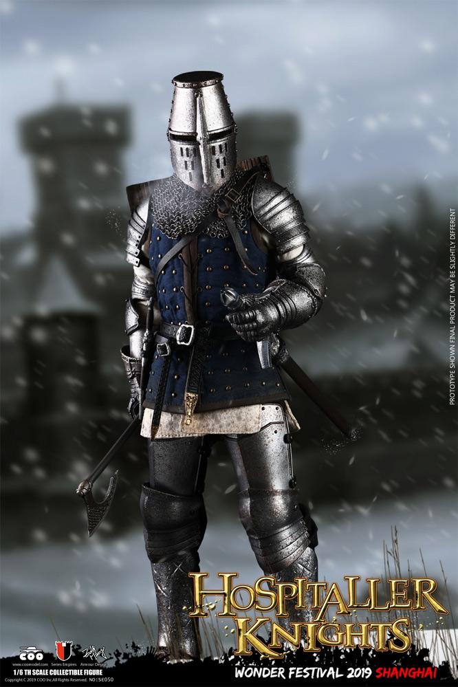 Crusader Knight hospitalière-METAL SWORD #2 avec ceinture 1//6 Scale-Coo figures