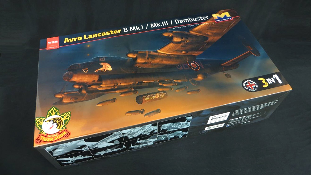 AVRO Lancaster B Mk.I (RCAF) / Mk.III / Dambuster 3-in-1 1/32 Scale Model Kit by HK Models