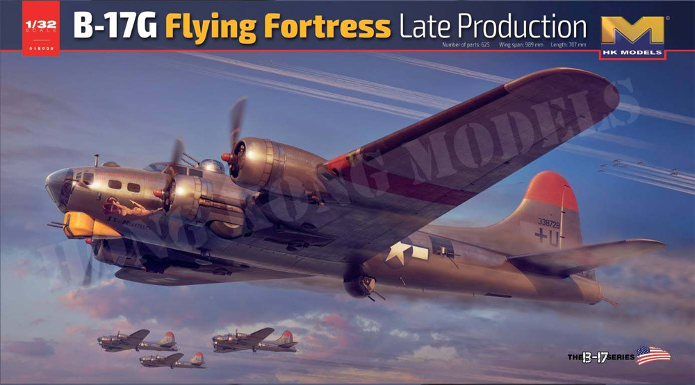 B-17G Flying Fortress Late Production 1/32 Scale Model Kit by HK Models