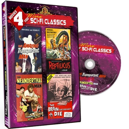 Movies 4 You - More Sci-Fi Classics (MGM Films) Amazing Transparent Man, Reptilicus, Neanderthal Man , Brain That Wouldn't Die