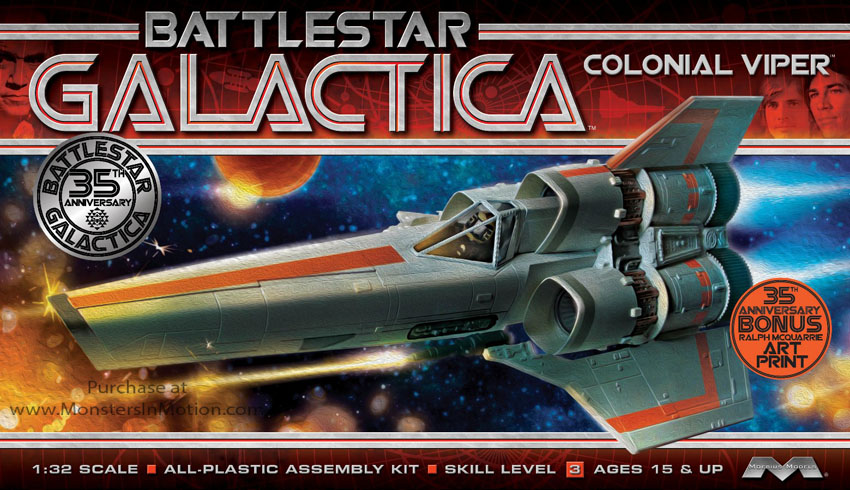 Battlestar Galactica 1978 Colonial Viper MK I 1/32 Scale Model Kit by Moebius