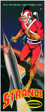 Adam Strange 1960's Comic Series Aurora Fantasy Box