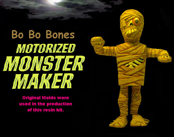 Motorized Monster Maker Bo Bo Bones Model Kit Topper