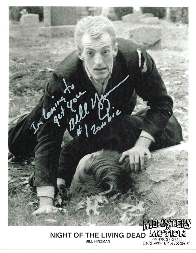 Night of the Living Dead Bill Hinzman Autographed Photo 8X10 Zombie #1