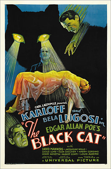 Black Cat 1935 One Sheet Reproduction Poster 27X41