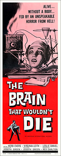 Brain That Wouldn't Die 1962 Repro Insert Movie Poster 14X36