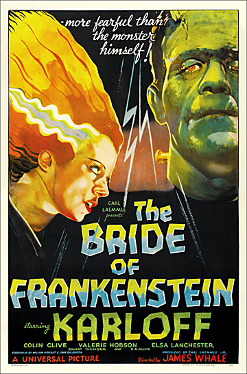 Bride of Frankenstein 1935 One Sheet Reproduction Poster - S