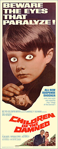 Children of the Damned 1964 Repro Insert Movie Poster 14X36