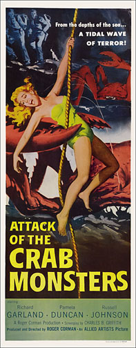 Attack of the Crab Monsters 1957 Repro Insert Poster 14X36