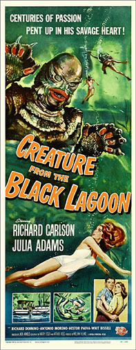 Creature From The Black Lagoon Repro Insert Poster 14X36