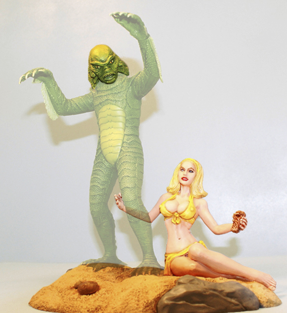 Creature From The Black Lagoon Aurora or Monogram Creature with Girl Conversion Model Kit