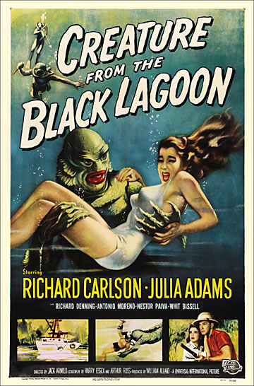 Creature From The Black Lagoon 1954 Reproduction Poster 27X41
