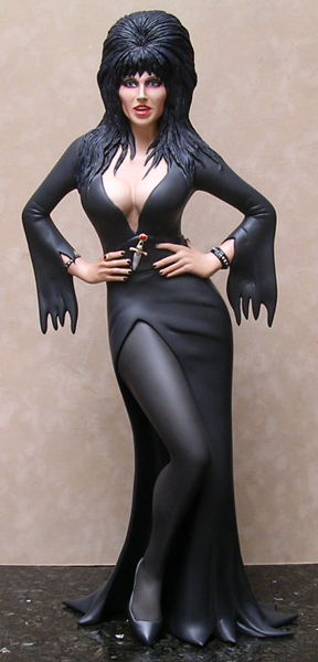 "Elvira Mistress Of The Dark 1/4 Scale 22.5"" Tall Resin Model Kit"