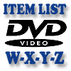 DVD Item List: W-Z