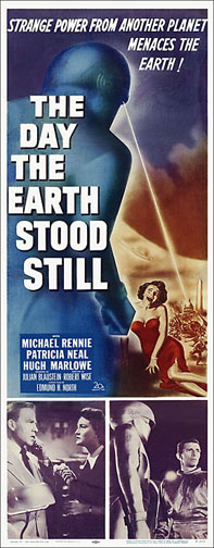 The Day the Earth Stood Still 1951 Repro Insert Poster 14X36
