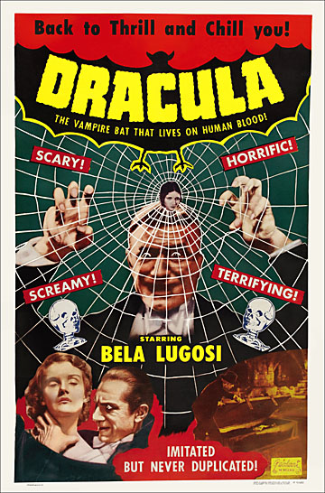 Dracula 1951 One Sheet Re-Release Reproduction Poster 27X41