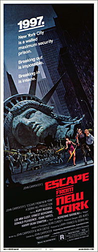 Escape from New York 1981 Repro Insert Movie Poster 14X36