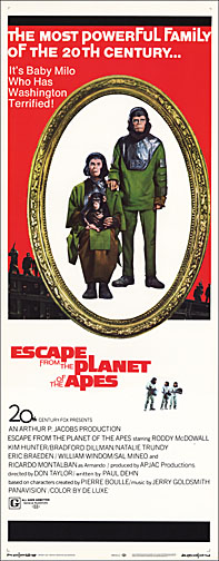 Escape from the Planet of the Apes Repro Insert Poster 14X36