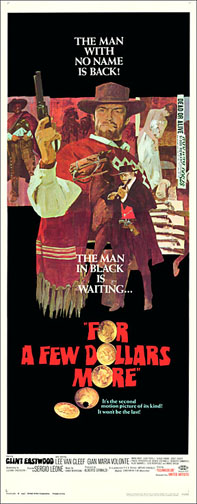 For A Few Dollars More Clint Eastwood Repro Insert Poster 14X36