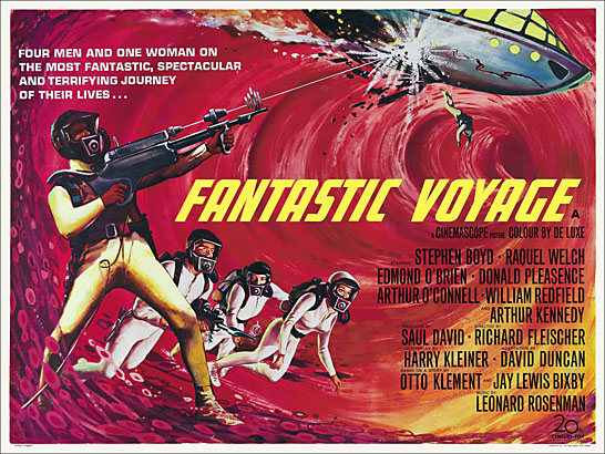 Fantastic Voyage 1966 British Quad Reproduction Poster 30 X 40