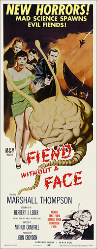 Fiend Without A Face 1958 Repro Insert Movie Poster 14X36