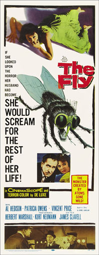 Fly Vincent Price 1957 Repro Insert Poster 14X36