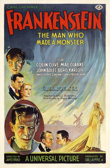 Frankenstein 1931 One Sheet Reproduction Poster 27X41
