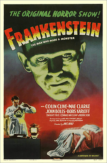 Frankenstein 1947 One Sheet Re-Release Reproduction Poster 27x41