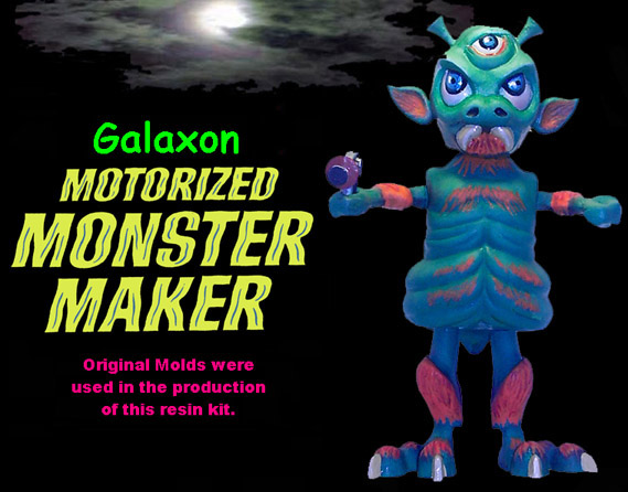 Motorized Monster Maker Galaxon Model Kit Topper