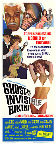 Ghost in the Invisible Bikini Karloff Repro Insert Poster 14X36
