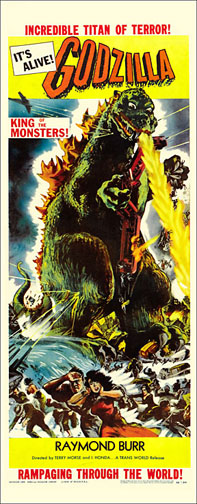 Godzilla 1954 Repro Insert Movie Poster 14X36