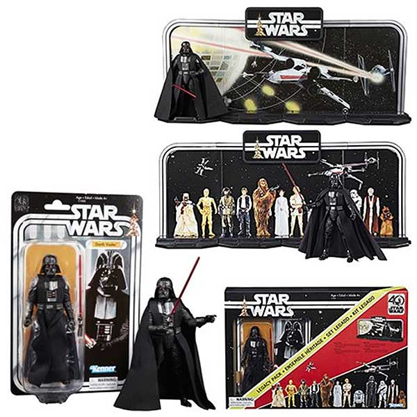 Star Wars The Black Series 40th Anniversary Display Diorama with Darth Vader 6-Inch Action Figure Early Bird Set Reproduction