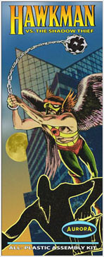 Hawkman 1960's Comic Series Aurora Fantasy Box