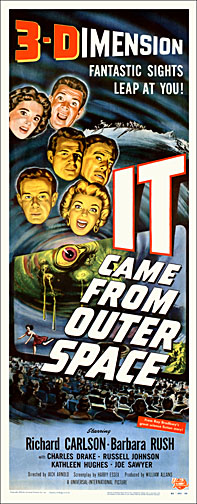 IT Came From Outer Space Repro Insert Poster 14X36