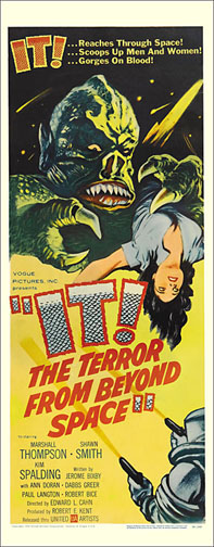IT The Terror from Outer Space 1958 Repro Insert Poster 14X36