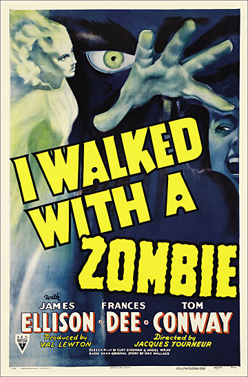 I Walked With A Zombie 1943 One Sheet Reproduction Poster 27x41