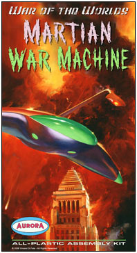 War of the Worlds Martian War Machine Aurora Fantasy Box