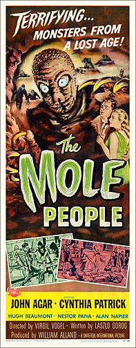 Mole People 1956 Repro Insert Movie Poster 14X36