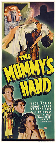 Mummy's Hand Lon Chaney 1940 Repro Insert Movie Poster 14X36