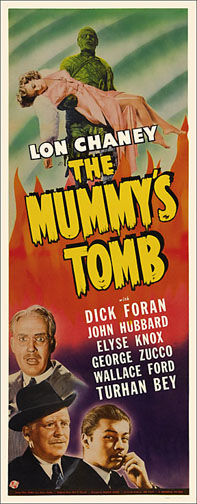 Mummy's Tomb Lon Chaney 1942 Repro Insert Movie Poster 14X36