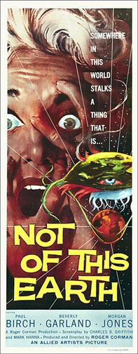 Not of this Earth 1957 Repro Insert Movie Poster 14X36