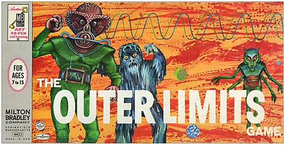 Outer Limits Game 1964 Board Game Reproduction Box