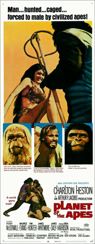 Planet of the Apes 1968 Repro Insert Movie Poster 14X36