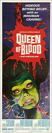 Queen of Blood 1966 Repro Insert Movie Poster 14X36