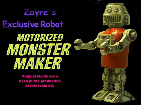 Motorized Monster Maker Zayre's Exclusive Robot Model Kit Topper
