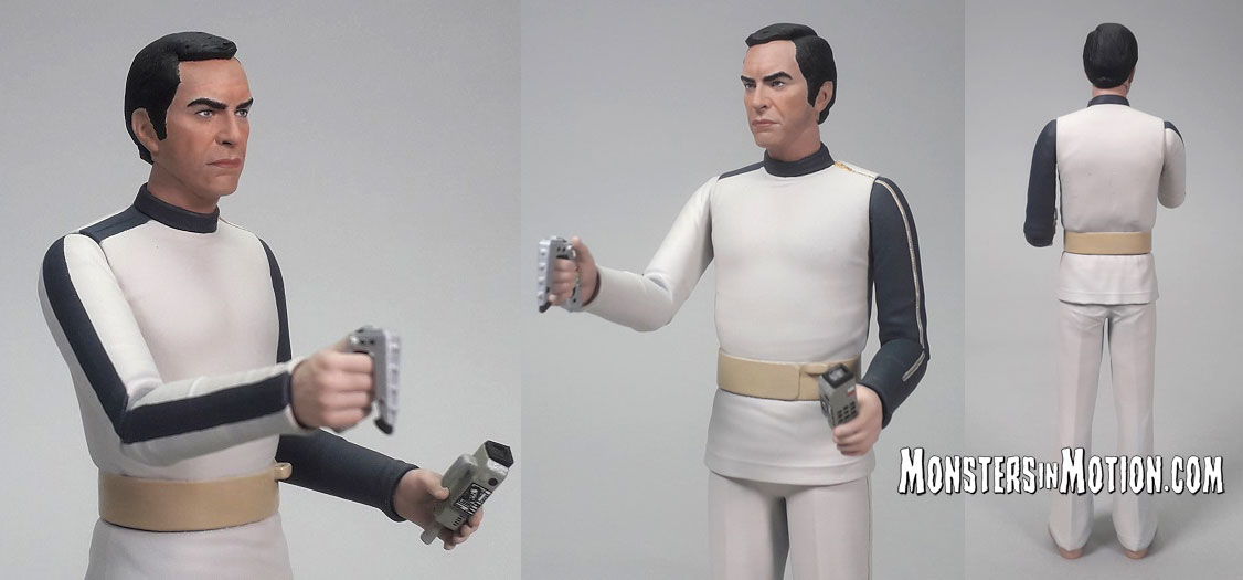 Space 1999 6 Inch Action Figures Series 1 Set of 5 Koenig, Russell, Carter in Season 1 Uniform and Koenig and Carter in Spacesuit