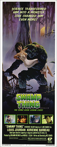 Swamp Thing 1982 Repro Insert Movie Poster 14X36